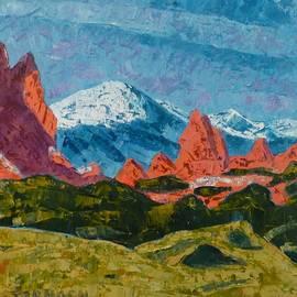 The Peak from the Garden by Susan Tormoen