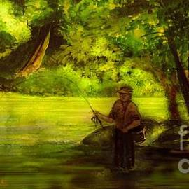 The Perfect Fishing Spot by Hazel Holland