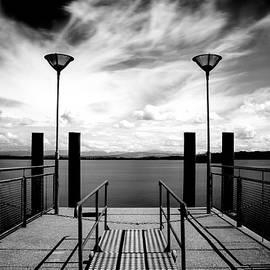 The Pier with Clouds, Switzerland by Imi Koetz
