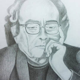 The poet Adunis by Mohammad Hayssam Kattaa