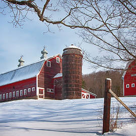 The Pomfret Highlands Farm - Pomfret Vermont by Joann Vitali