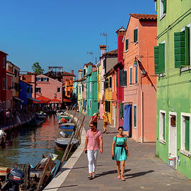 The Power Couple of Burano by Andrew Cottrill