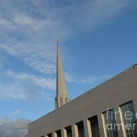 The Preston Temple at Sundown by Kathryn Jones