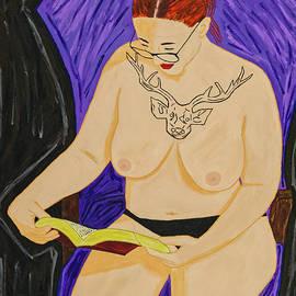 The Reader by Acrylic Asylum Art