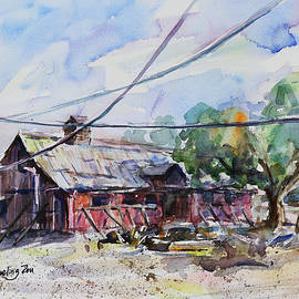 The Red Barn Farm Morgan Hill California by Xueling Zou