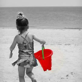 The Red Bucket Selective Color by Marilyn DeBlock