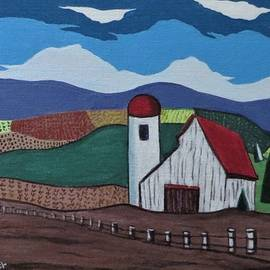 The Red Roofed Barn by Joyce Gebauer