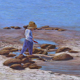 The Red Spade - Pastel painting by Alison A Murphy