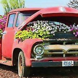 The Retired Pickup's Second Career, Spring Version by Martha Sherman