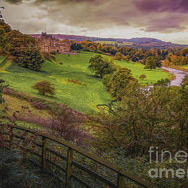 The River Aln and Alnwick Castle by Robert Murray