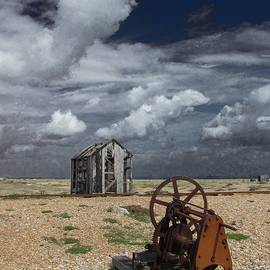 The Rusting Winch and Decaying Shed  by Andrew Wright