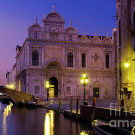 The Scuola Grande di San Marco at night, Venice, Italy by Justin Foulkes