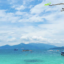 The sea is blue and the sky is blue too by Hoang Huan Nguyen