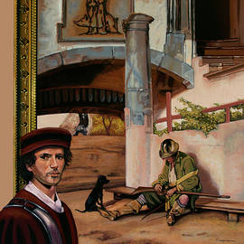 The Sentry of Carel Fabritius Painting by Paul Meijering