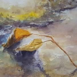 The shore watercolor painting by Vali Irina Ciobanu  by Vali Irina Ciobanu