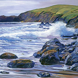The Sparkling Pacific Ocean by David Lloyd Glover