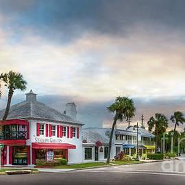 The Stadium Gallery at St. Armand's Circle, Florida, Watercolor by Liesl Walsh