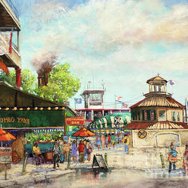 The Steamboat Landing - Natchez Paddleboat - New Orleans French Quarter by Dianne Parks