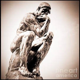The Thinker Auguste Rodin 1840 -1917    The thinker -The Poet.  at Rodin museum.  by Cyril Jayant
