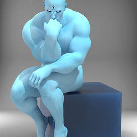 The Thinker Dr Manhattan by Joaquin Abella