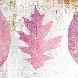 The Three Graces II distressed leaves study by Tina Lavoie