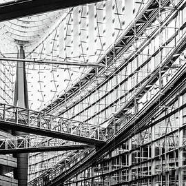 The Tokyo International Forum black and white by Lyl Dil Creations