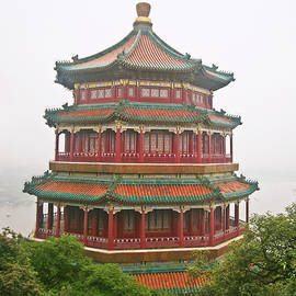 The Tower of the Fragrance of the Buddha, Beijing, China by Derrick Neill
