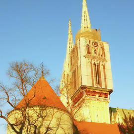 The Towers Of Zagreb Cathedral by Jasna Dragun