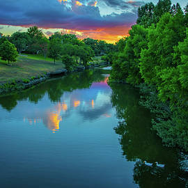 The Tropical Colors of Hanna Over Cibolo Creek by Lynn Bauer