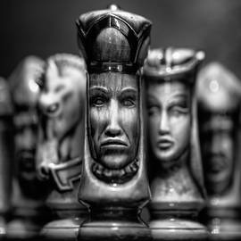 The unhappy white king monochrome by Murray Rudd