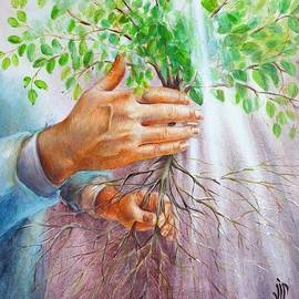 The victory of grace  painting by Vali Irina Ciobanu by Vali Irina Ciobanu