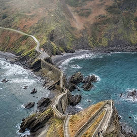 The View from San Juan de Gaztelugatxe by Joan Carroll