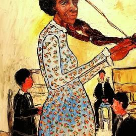 The violinist  by Yolanda Terrell