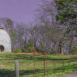 The White Barn on the Hill by Marcy Wielfaert