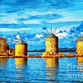 The Windmills of Chios by Yorgos Daskalakis