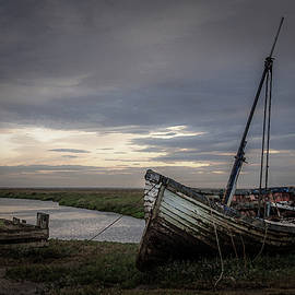 The Wreck at Thornham Staithe by Jim Key