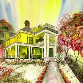 Yellow House of Clayton North Carolina  by Catherine Ludwig Donleycott