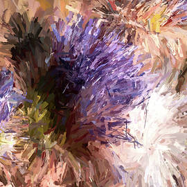 Thistle Flowers in Abstract by Donna Kennedy