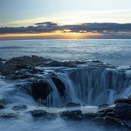 Thor's Well at Sunset by Varma Penumetcha