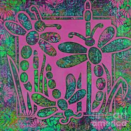 Three Dragonflies #2 by Trudee Hunter