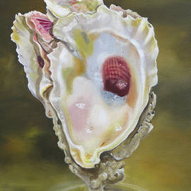 Three Fold Oyster Shell by Phyllis Beiser