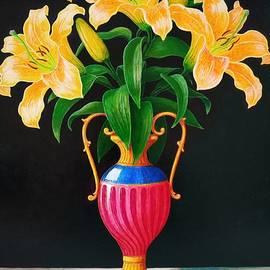 Three lilies by Vladimir Frolov