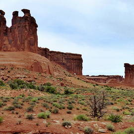Three Sisters rock formation in Arches National Park, Utah by Lyuba Filatova