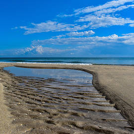 Tide Pool to the Ocean on Highland Beach Florida  by Jacqueline Bergeron