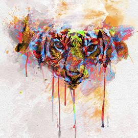 Tiger Spill Pop Art  by Darren Wilkes