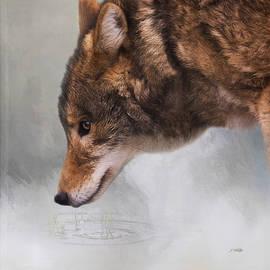 Time To Breathe - Wolf Art by Jordan Blackstone