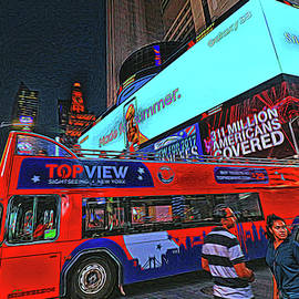 Times Square 12 - Photopainting by Allen Beatty