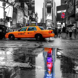 Times Square Reflection by Paul Thompson