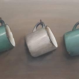 Tin mugs by Jennifer Busa