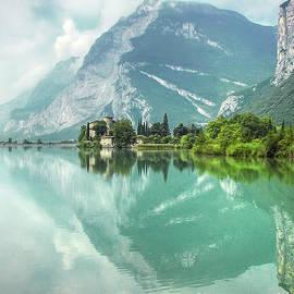 Toblino Lake and Castle by Paolo Signorini